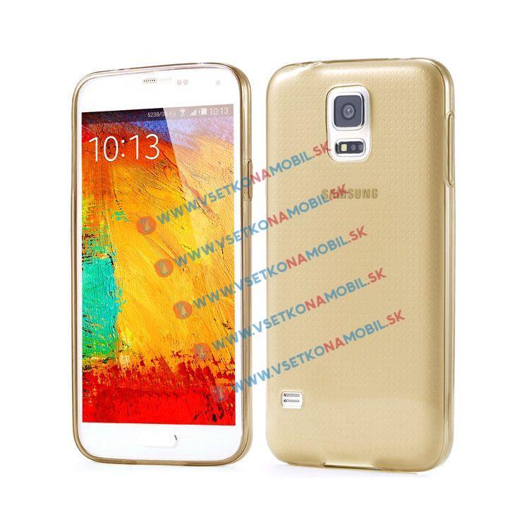 FORCELL Silikónový obal Samsung Galaxy S4 zlatý