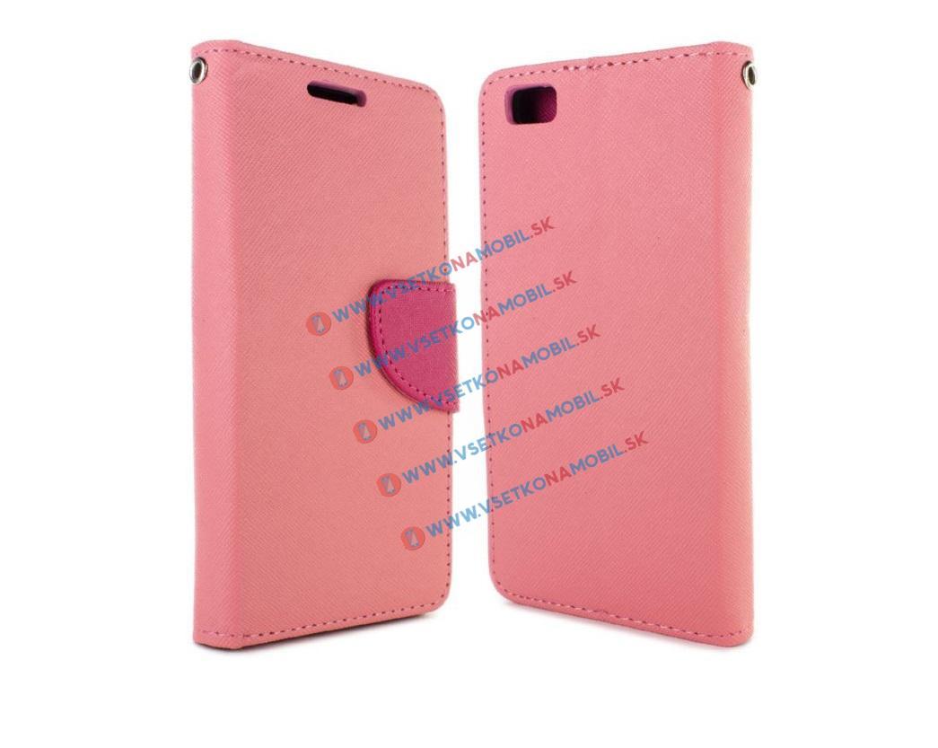 FANCY Peňaženkové flip puzdro Huawei P8 lite PINK