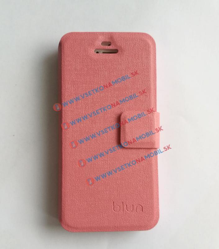 FORCELL BLUN Peňaženkové flip puzdro Apple iPhone 5 / 5S / SE ružové
