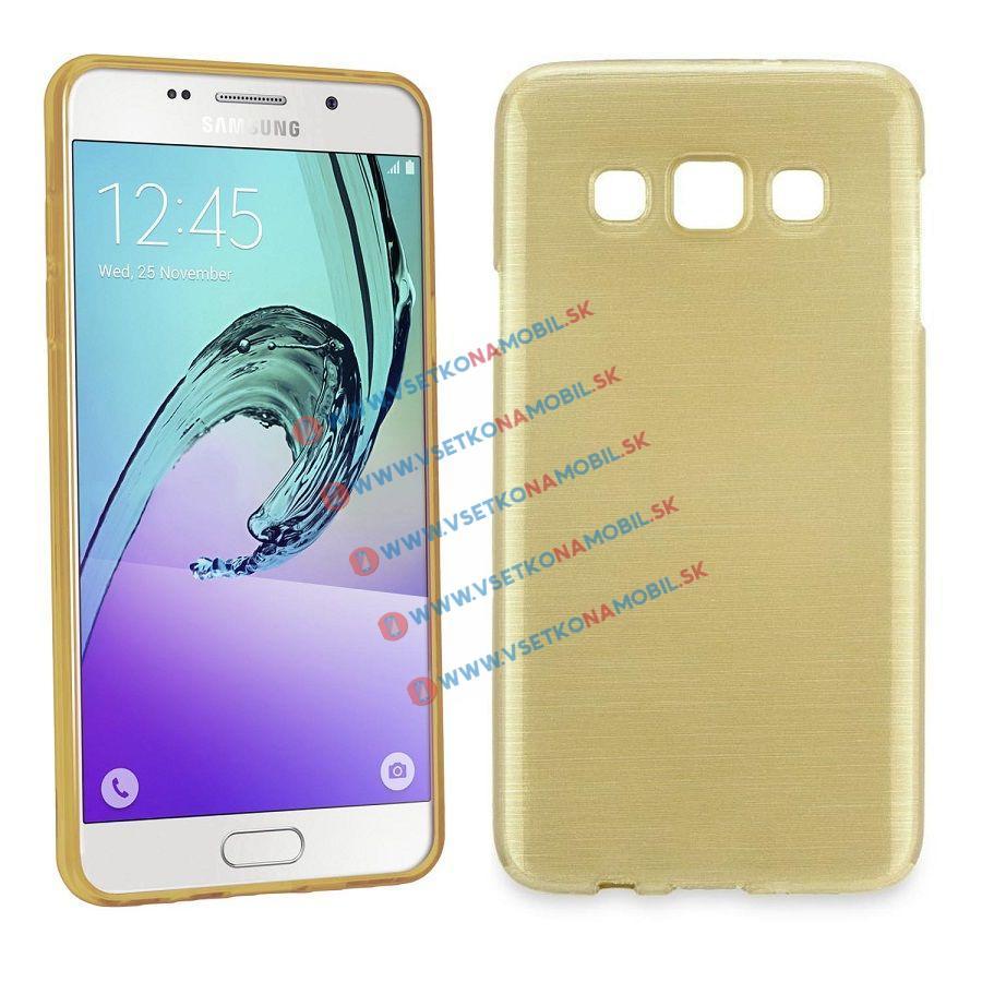 Silikónový obal Samsung Galaxy J1 2016 zlatý BRUSH