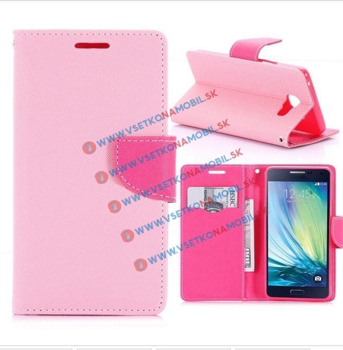 FORCELL Peňaženkové flip puzdro Samsung Galaxy A5 2016 PINK-RED