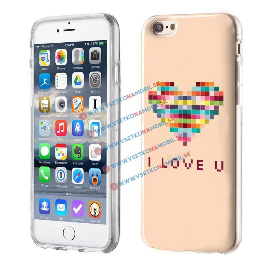 FORCELL Silikónový obal iPhone 6 / 6S LOVE