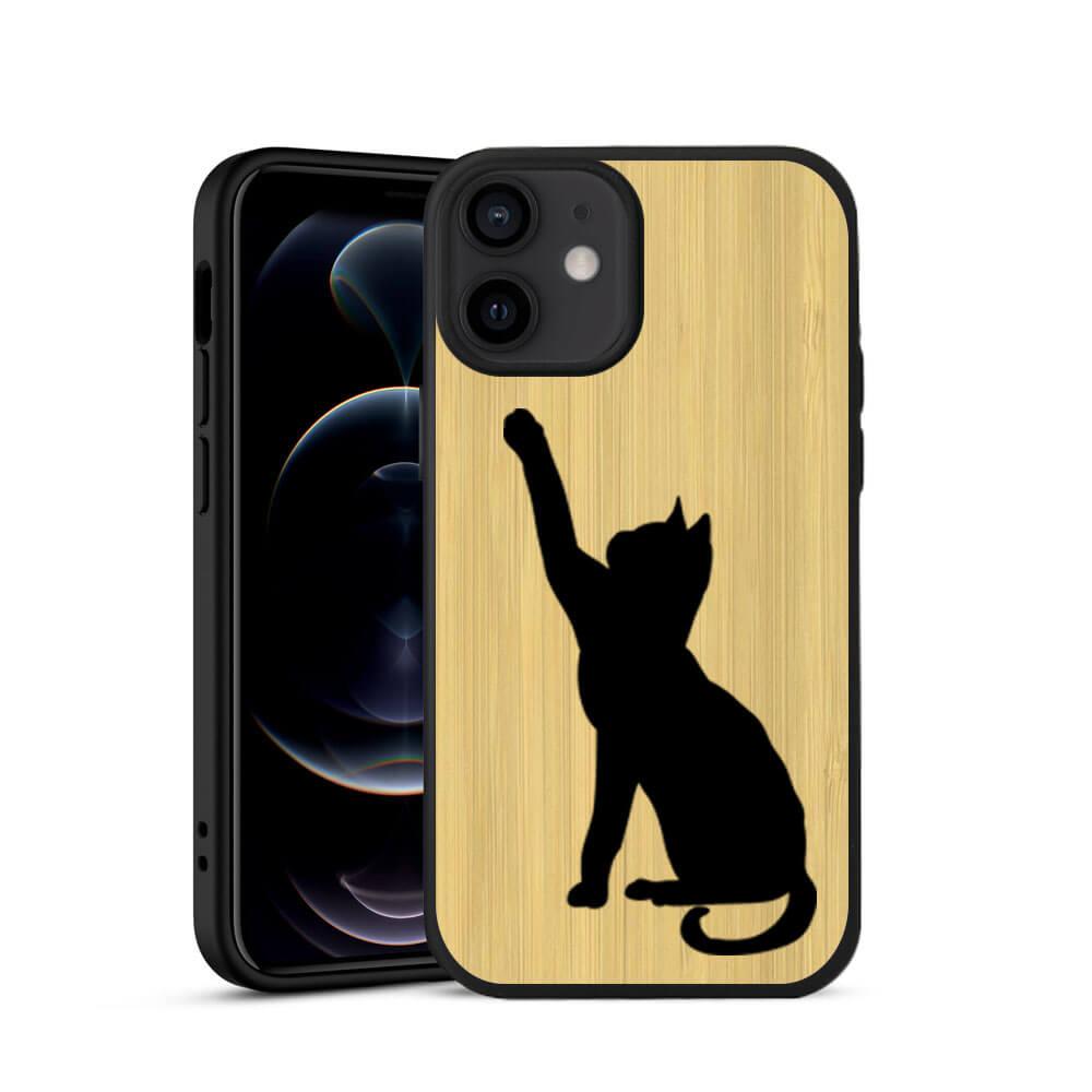 FORCELL BAMBOO Drevený kryt Apple iPhone 12 Mini CAT (085)