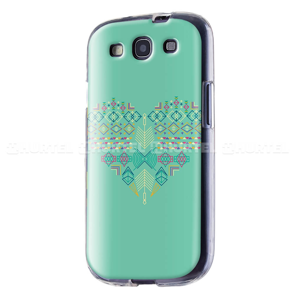 FORCELL ART TPU Silikónový obal Samsung Galaxy S3 GREEN HEART