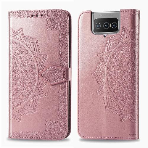 FORCELL ART Peňaženkový kryt Asus Zenfone 7 (ZS670KS) ORNAMENT ružový