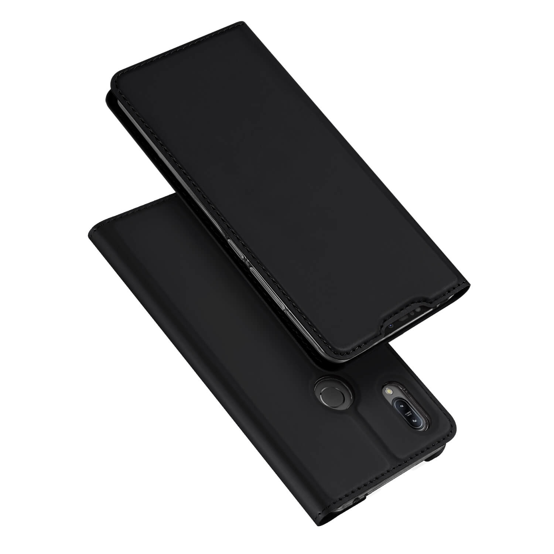 DUX Peňaženkový obal Asus Zenfone 6 ZS630KL čierny