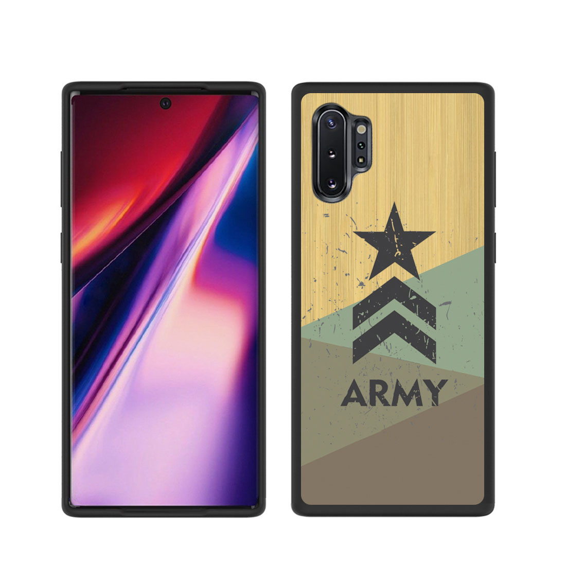 FORCELL BAMBOO kryt Samsung Galaxy Note 10 Plus ARMY (072)