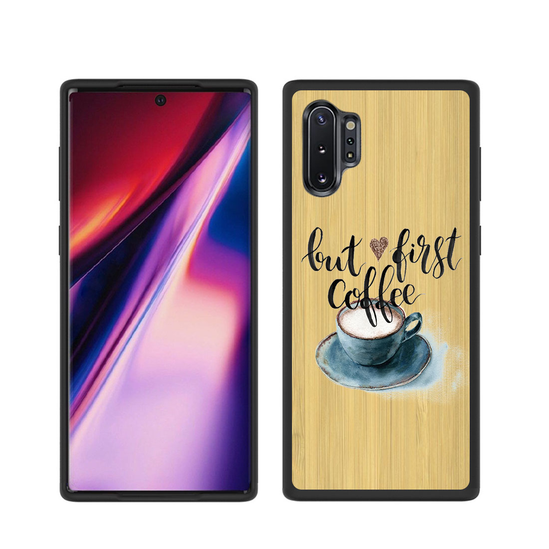 FORCELL BAMBOO Drevený kryt Samsung Galaxy Note 10 Plus COFFEE FIRST (073)