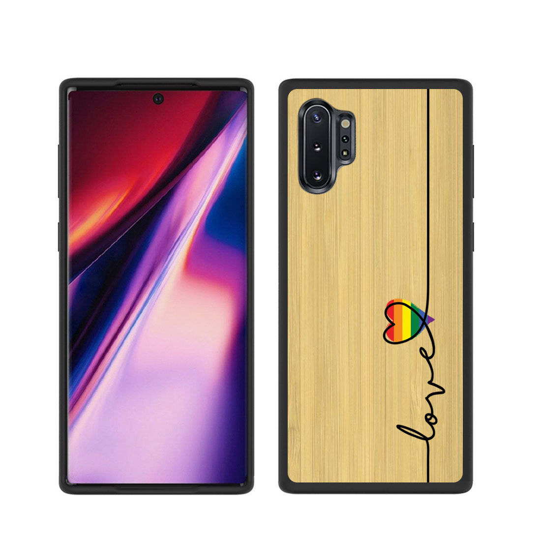 FORCELL BAMBOO Drevený kryt Samsung Galaxy Note 10 Plus LOVE (054)