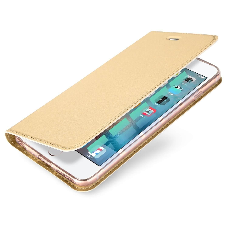 DUX Flipové puzdro Apple iPhone 6 / 6S zlaté