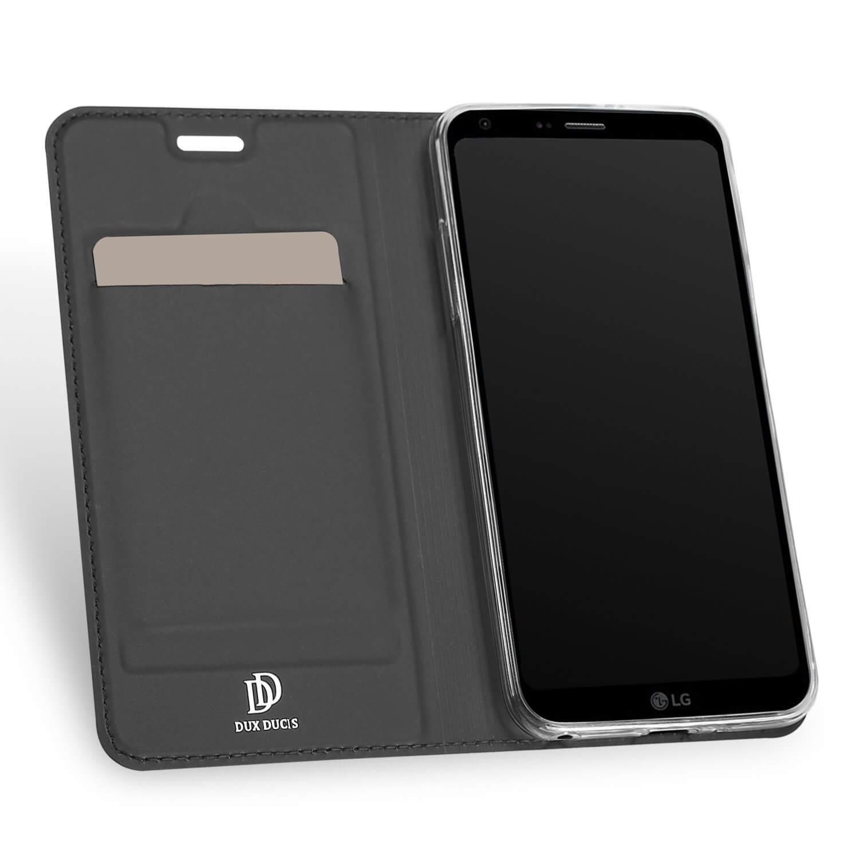DUX Flipové púzdro LG Q6 šedé