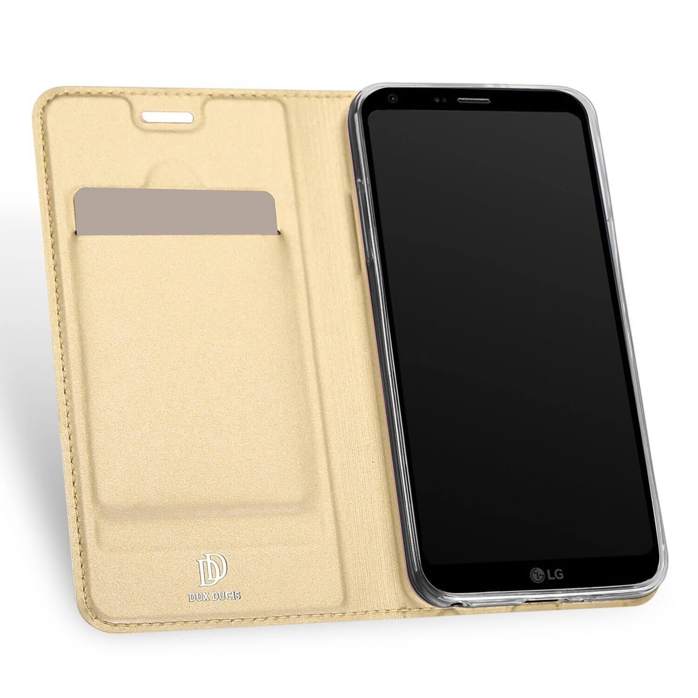 DUX Flipové púzdro LG Q6 zlaté