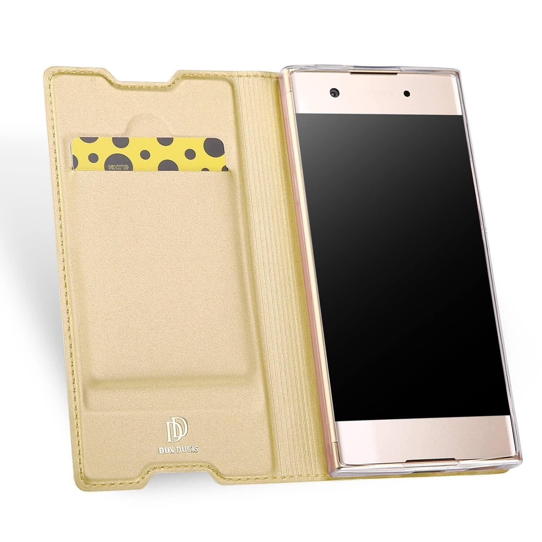 DUX Flipové púzdro Sony Xperia XA1 zlaté