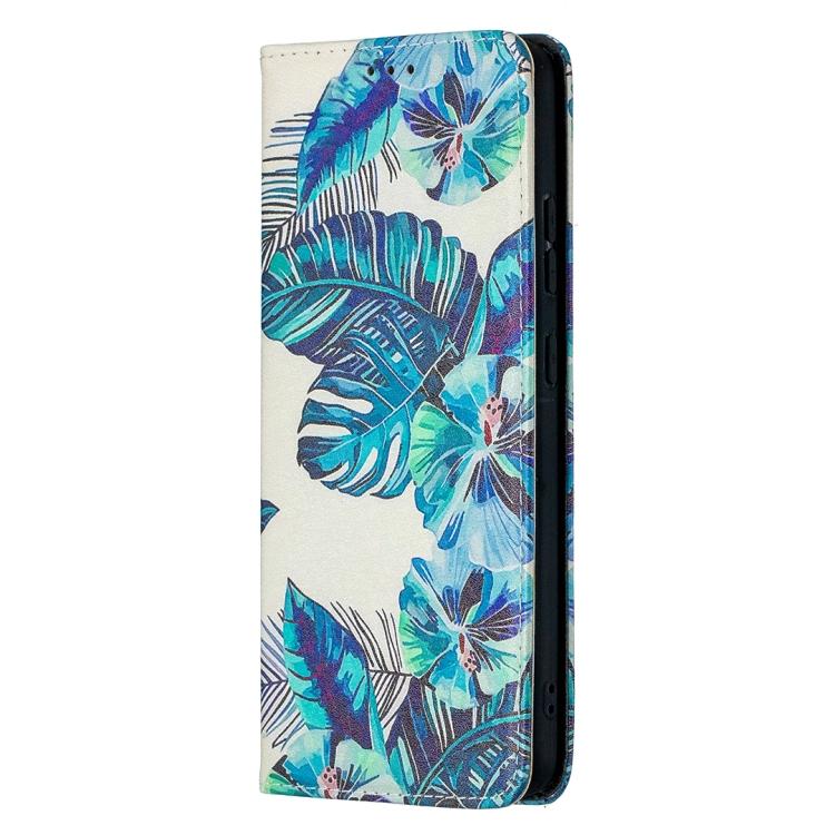 FORCELL ART Peňaženkový kryt Nokia 2.4 BLUE LEAVES