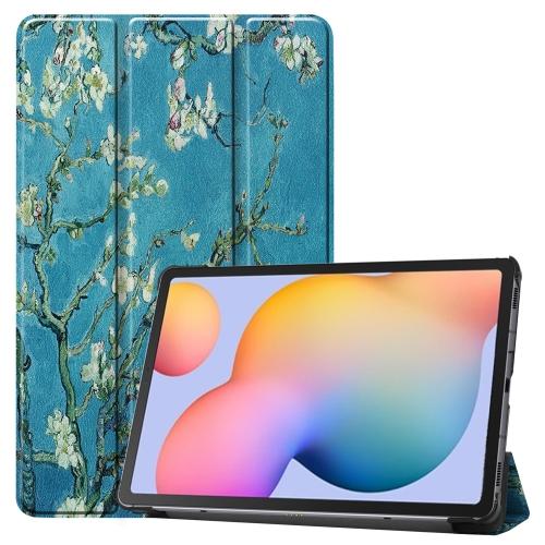 FORCELL ART Zaklápací kryt Samsung Galaxy Tab S6 Lite APRICOT FLOWER