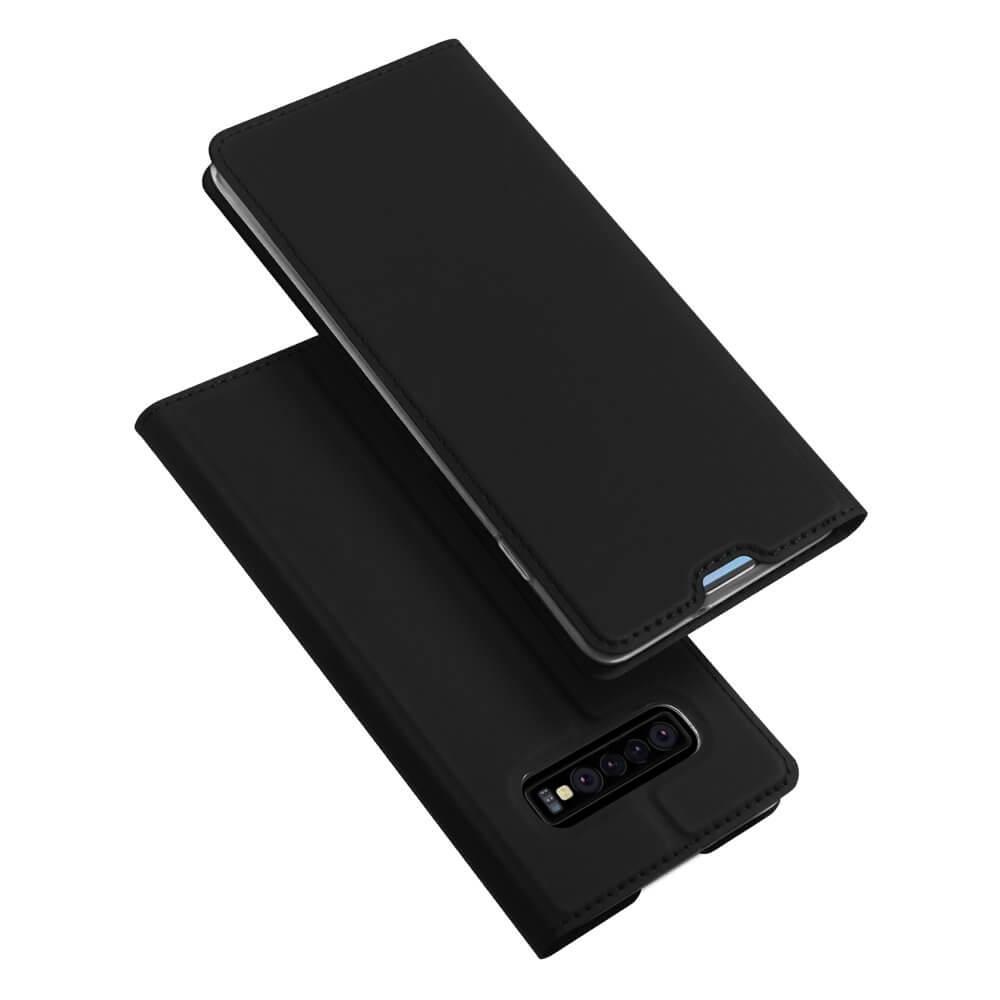 DUX Peňaženkový kryt Samsung Galaxy S10 Plus čierny