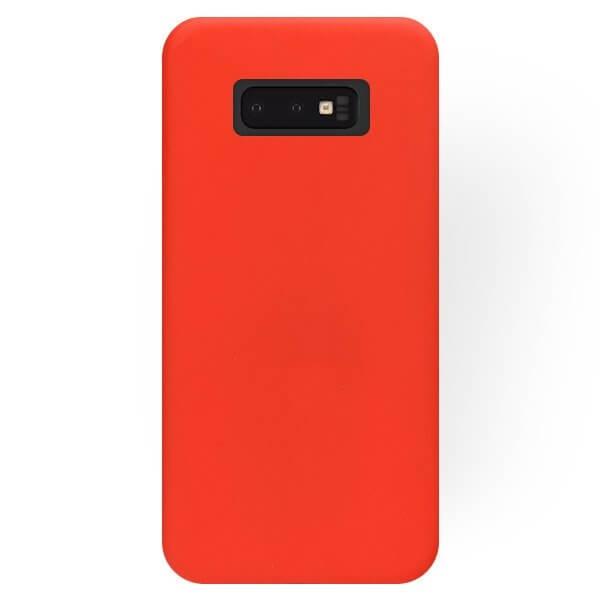FORCELL RUBBER Silikónový obal Samsung Galaxy S10e červený