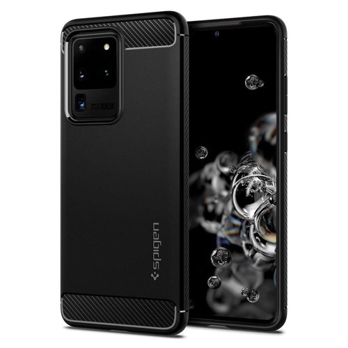 SPIGEN RUGGED ARMOR obal Samsung Galaxy S20 Ultra čierny