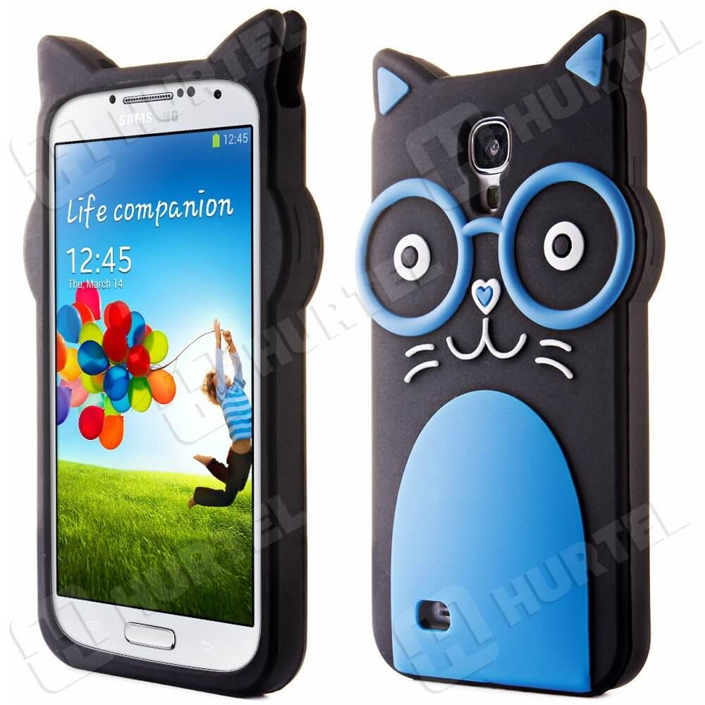 FORCELL FUNNY TPU obal Samsung Galaxy S4 modrý
