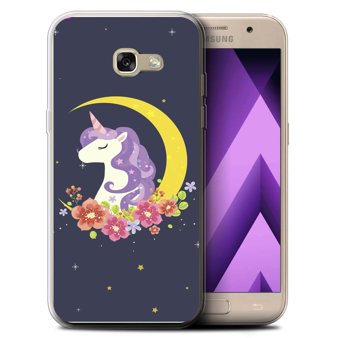 MY ART kryt Samsung Galaxy A3 2017 (A320) UNICORN (031)