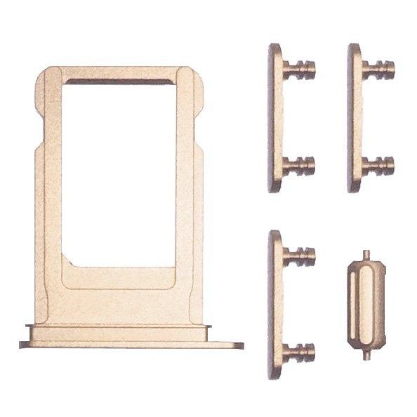 UNBRANDED SIM Slot + bočné tlačidlá- Apple iPhone 7 Plus - zlatá