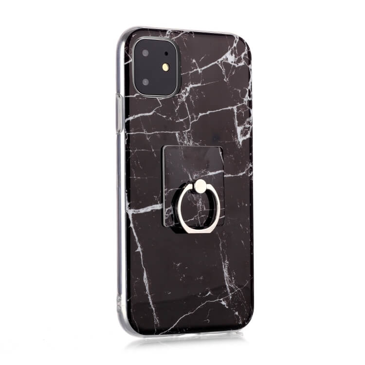 FORCELL HOLD Ochranný kryt Apple iPhone 11 MARBLE BLACK