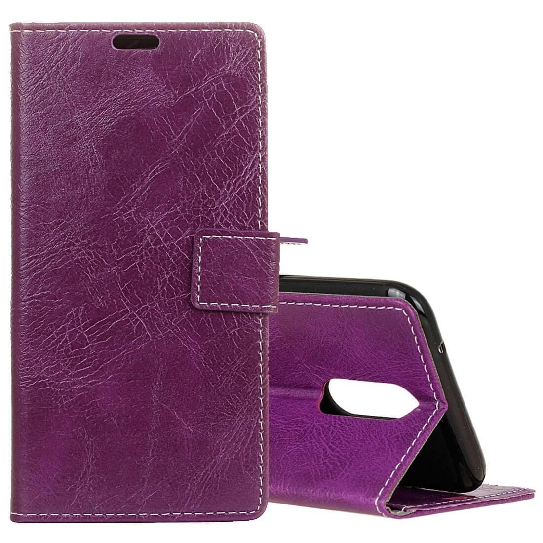 FORCELL RETRO Peňaženkový obal LG K11 fialový
