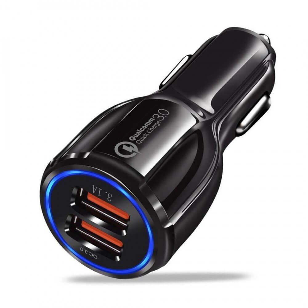 REMAX Nabíjačka do auta 2X USB Quick Charge 3.0 čierna