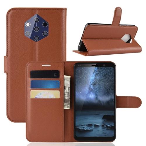FORCELL LITCHI Peňaženkové puzdro Nokia 9 hnedé