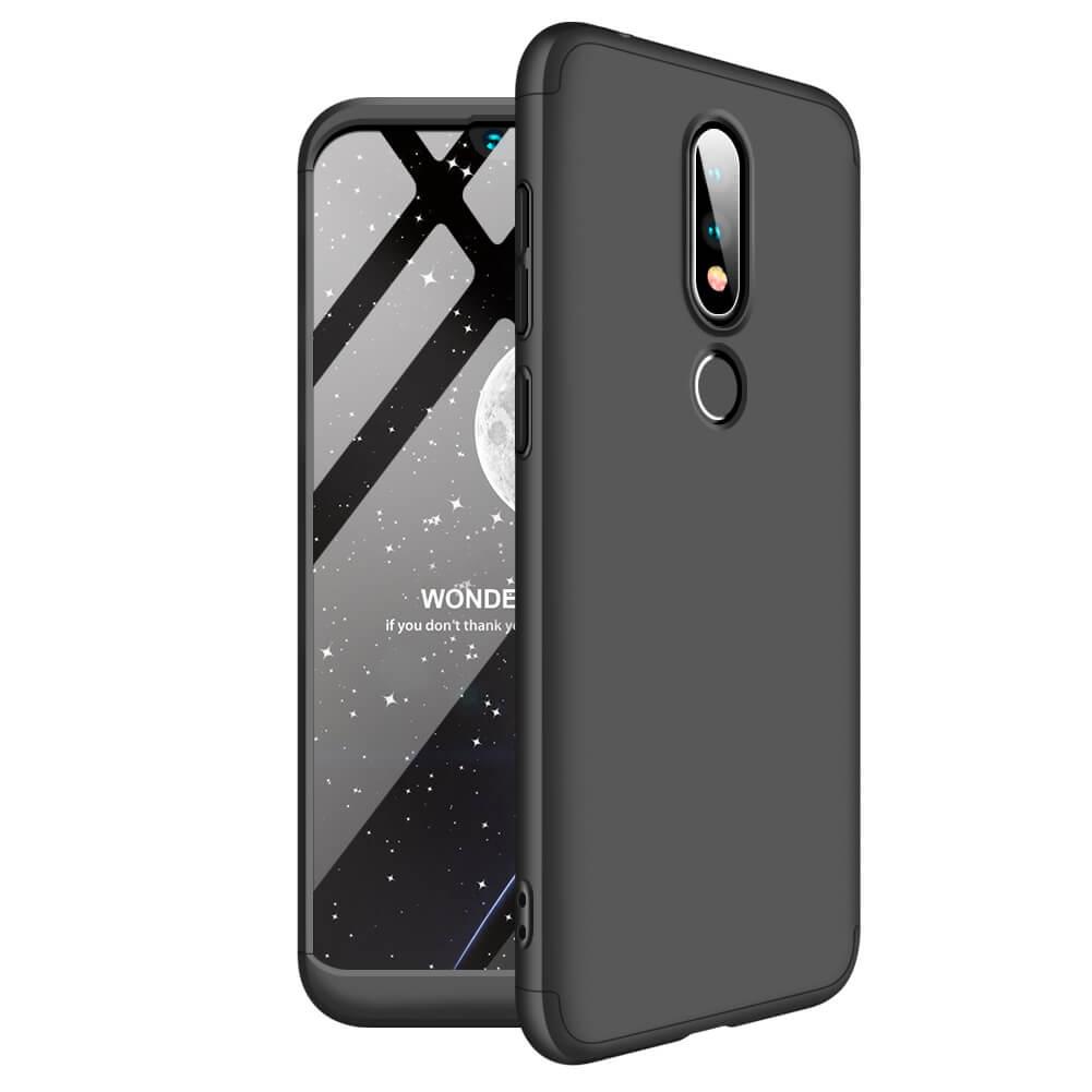 FORCELL 360° ochranný kryt Nokia 6.1 Plus (Nokia X6) čierny