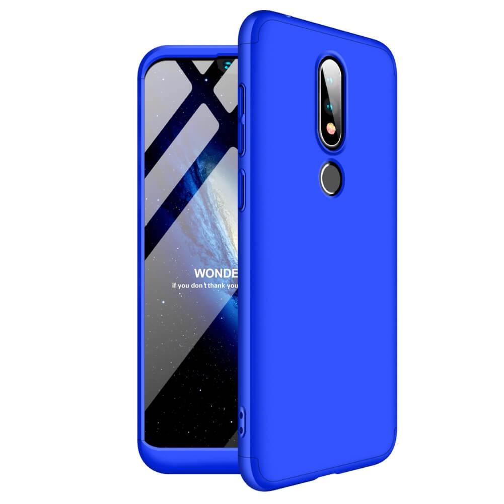 FORCELL 360° ochranný kryt Nokia 6.1 Plus (Nokia X6) modrý