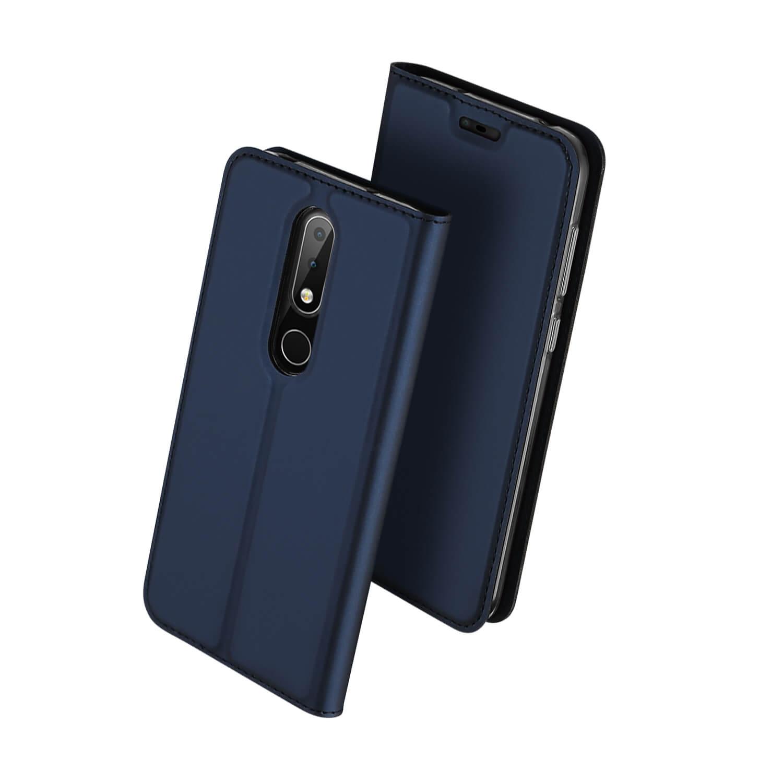 DUX Peňaženkový kryt Nokia 6.1 Plus (Nokia X6 2018) modrý