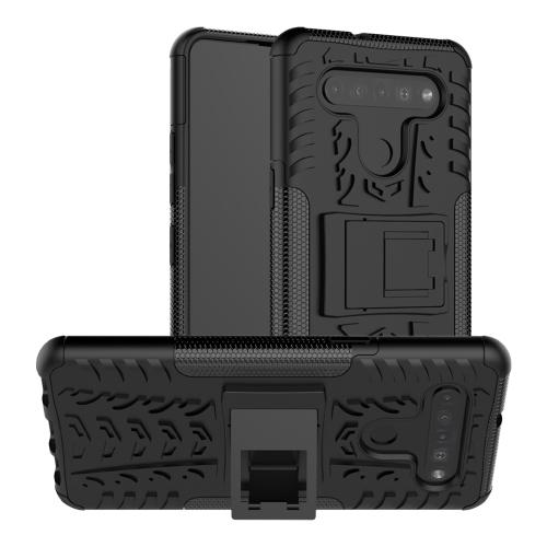FORCELL STAND Extra odolný obal LG K41s / LG K51s čierny
