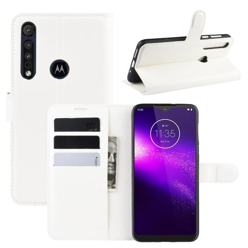 FORCELL LITCHI Peňaženkové puzdro Motorola One Macro / Motorola G8 Play biele