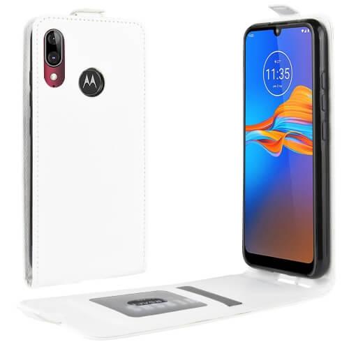 FORCELL Vyklápacie puzdro Motorola Moto E6 Plus biele