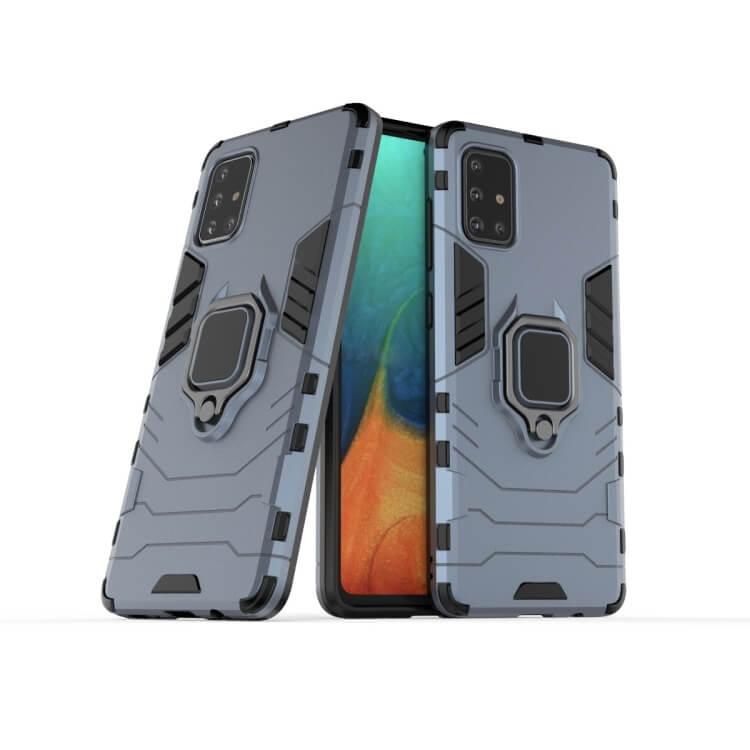 FORCELL STRONG Ochranný obal Samsung Galaxy A71 modrý
