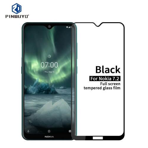 FORCELL 3D Tvrdené sklo Nokia 7.2 / Nokia 6.2 čierne