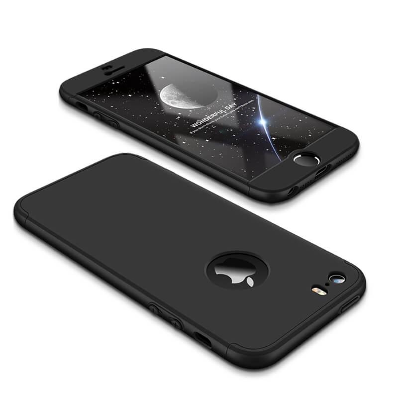 FORCELL 360° Ochranný obal Apple iPhone 5 / 5S / SE čierny