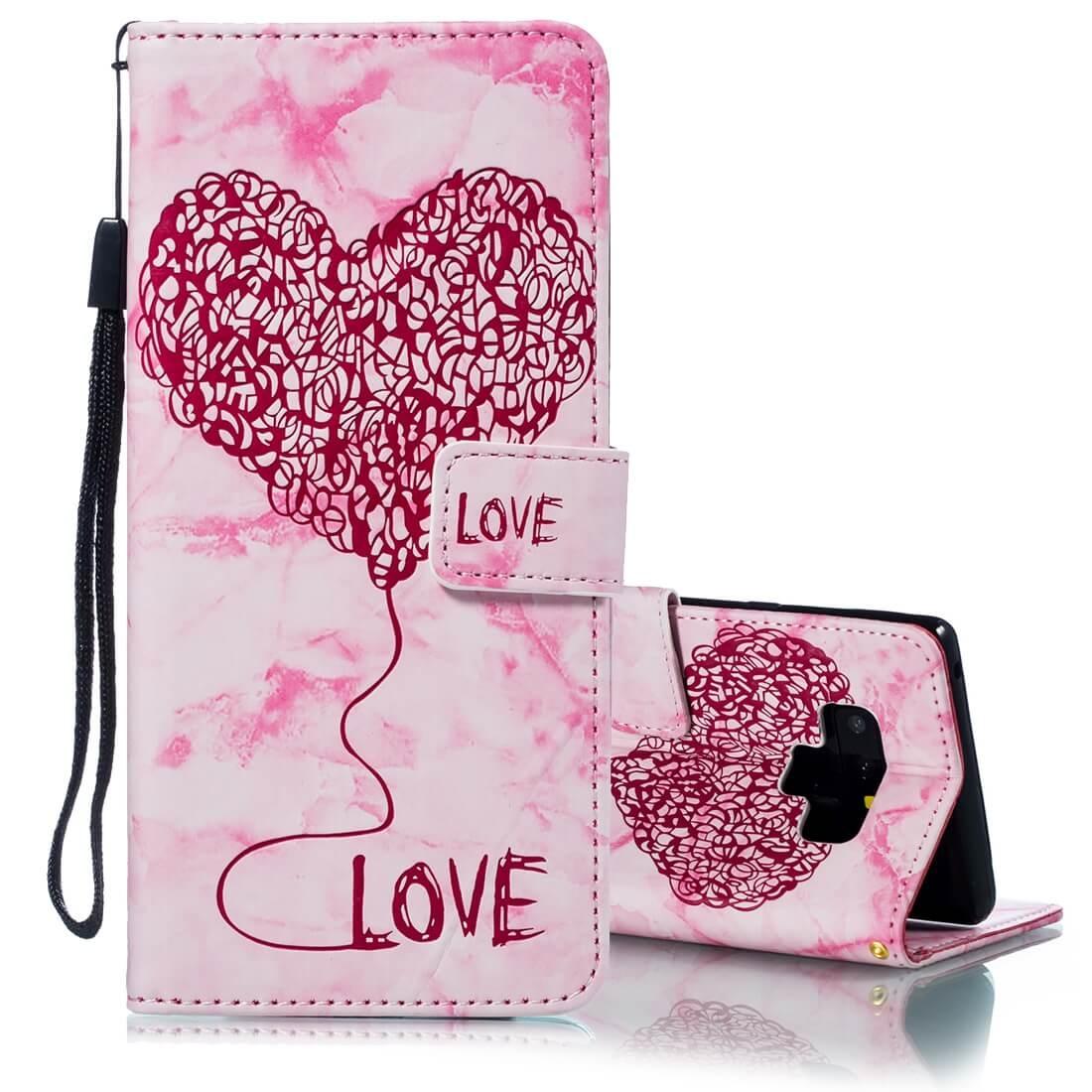 FORCELL ART Peňaženkový obal Samsung Galaxy Note 9 LOVE PINK