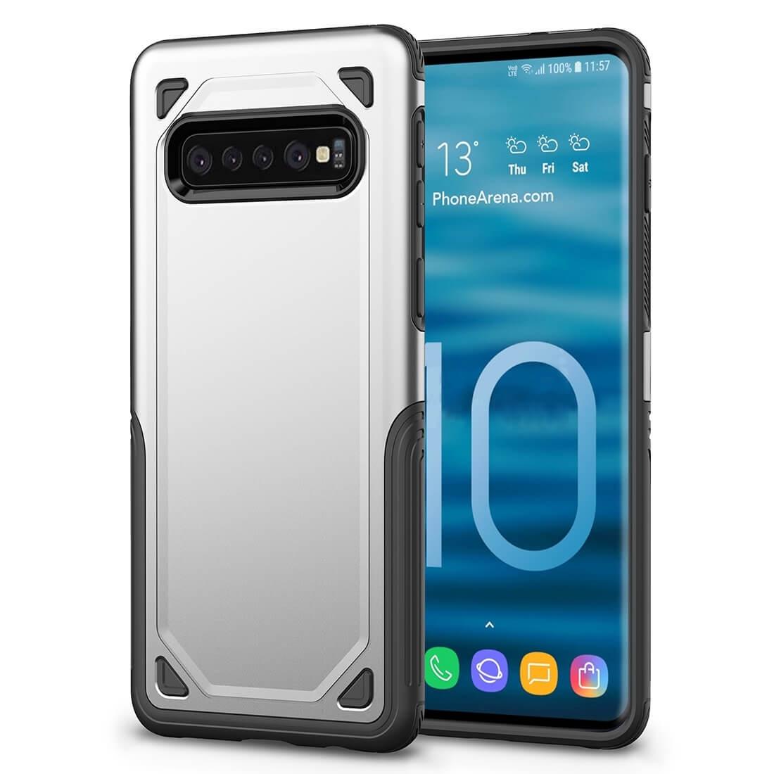 FORCELL SHOCKPROOF Ochranný kryt Samsung Galaxy S10 Plus strieborný