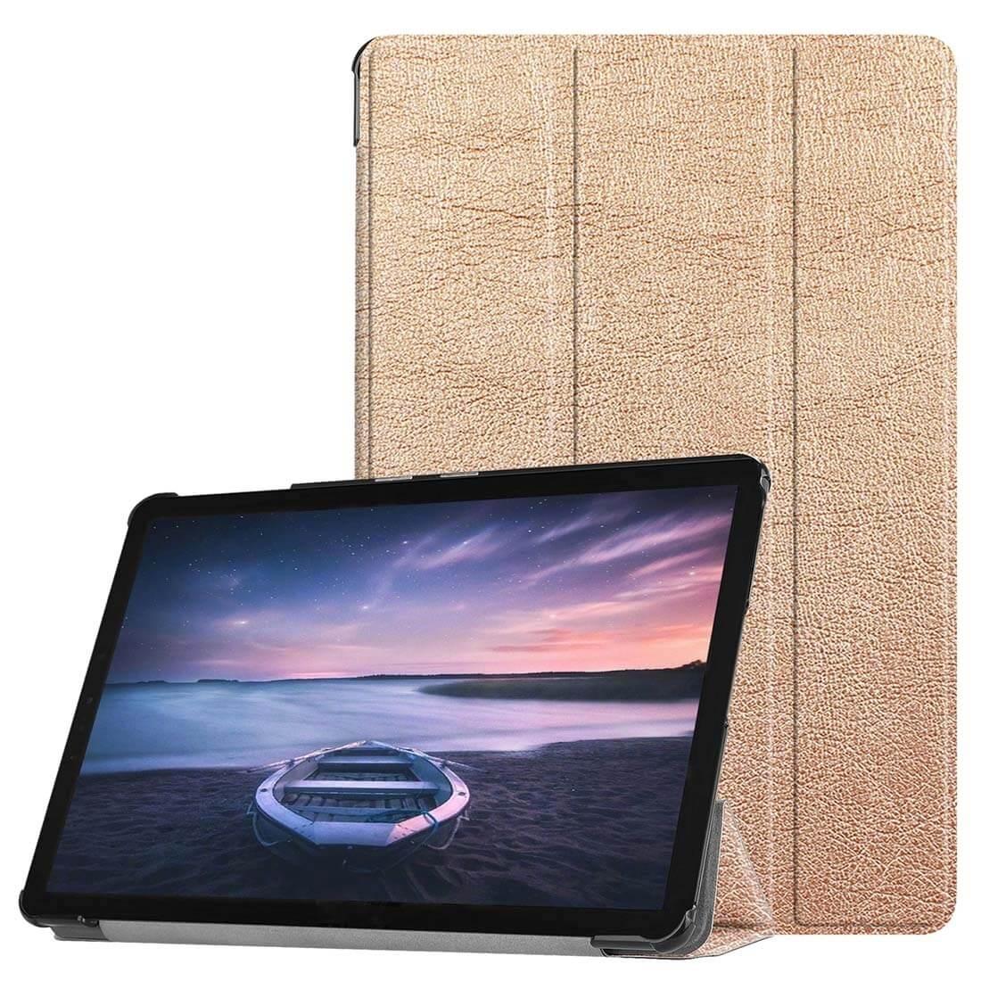 FORCELL LEATHER Zaklápací obal Galaxy Tab S4 10.5 / T835 zlatý