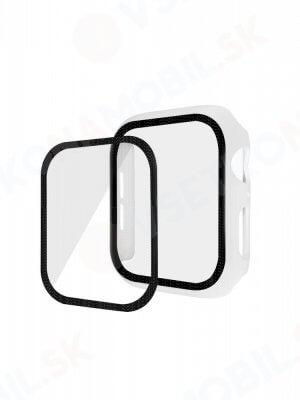 ENKAY Obal s tvrdeným sklom pre Apple Watch 5 / 4 44 mm biely
