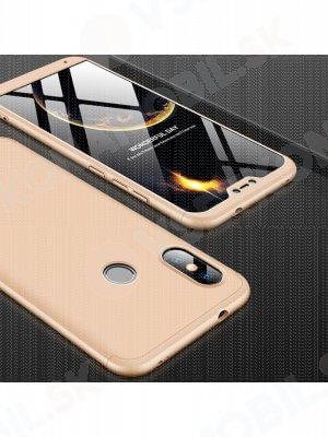 360° Ochranný kryt Xiaomi Mi A2 Lite zlatý