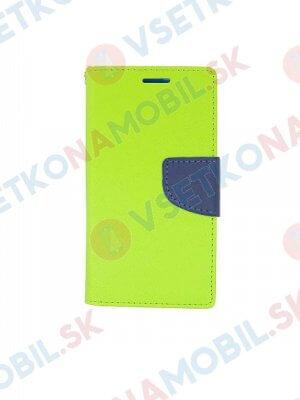 FANCY Peňaženkový obal Samsung Galaxy A8+ 2018 zelený
