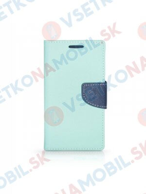 FANCY Peňaženkový obal Samsung Galaxy A8+ 2018 mentolový