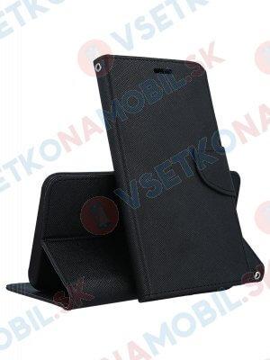 FANCY Peňaženkový obal HTC U12 Plus čierny