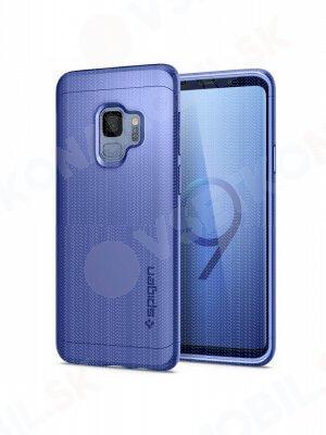 SPIGEN THIN FIT 360° obal + 9H Ochranné sklo Samsung Galaxy S9 modrý (Coral Blue)