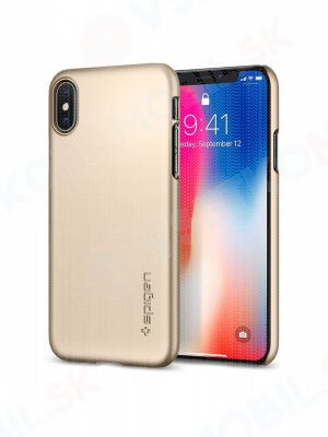 SPIGEN THIN FIT Ultratenký kryt Apple iPhone X / XS champagne gold