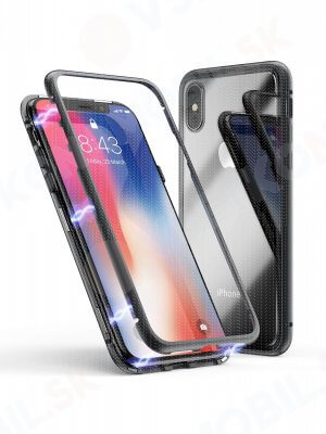 Ochranný magnetický obal Apple iPhone XS Max čierny