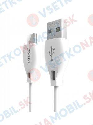 DUDAO L4 kábel USB Typ-C 2 metre biely